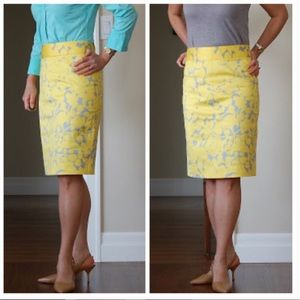 Jcrew gladeola print pencil skirt